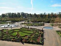 Parc de château de Rundale, Lettonie images libres de droits