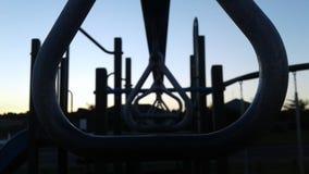 Parc de coucher du soleil Photographie stock