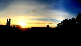 Parc de coucher du soleil Images libres de droits