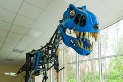 Parc de dinosaure, rex modèle robotique de Tyrannosaurus photos libres de droits
