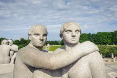 Parc de Frogner, Oslo, Norvège photos libres de droits