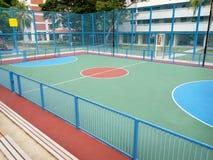 Parc de Futsal dans le domaine de logement à caractère social Image libre de droits