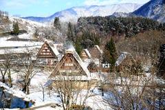 Parc de Gassho Zukuri dans Shirakawago images libres de droits