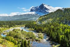 Parc de glacier photographie stock libre de droits