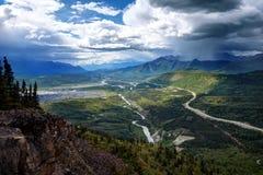 Parc de glacier de l'Alaska Matanuska photographie stock libre de droits