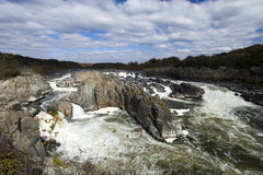 Parc de Great Falls, la Virginie, Etats-Unis photos stock