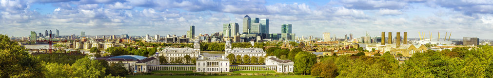 Parc de Greenwich de forme d'horizon de Londres Photos stock