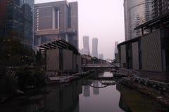 Parc de Hangzhou Quianjiang Photographie stock libre de droits