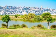 Parc de Kishon, Haïfa Photos stock