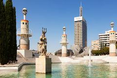 Parc de l'Espanya Industrial in Barcelona Stock Images