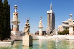 Parc de l'Espanya Industrial in Barcelona Stock Images