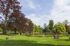 Parc de L'Orangerie in the center of Strasbourg city, France. Po Royalty Free Stock Image