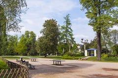 Parc de L'Orangerie, a public park in Strasbourg city, France Royalty Free Stock Images