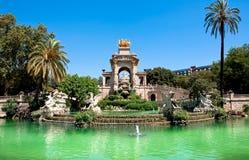 parc de la Ciutadella。 巴塞罗那。 库存照片
