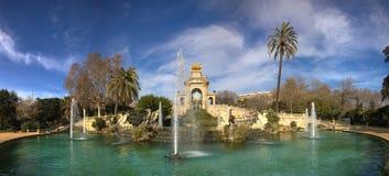 Parc de la Ciutadella喷泉 库存照片