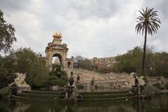 Parc de la Ciutadella在巴塞罗那 库存图片