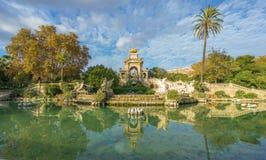 Parc de la Ciutadella在巴塞罗那 免版税库存照片