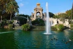 Parc de la Ciutadella. View of fountain in Parc de la Ciutadella, Barcelona Stock Image
