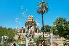 Parc de la Ciutadella. Barcelona, Spain. BARCELONA, SPAIN - JUNE 7, 2015: La Tamborinada festival. This is a fun festival for children and families at Barcelona' Stock Images