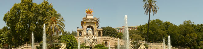 Parc de la ciutadella cascade fountain Royalty Free Stock Photo