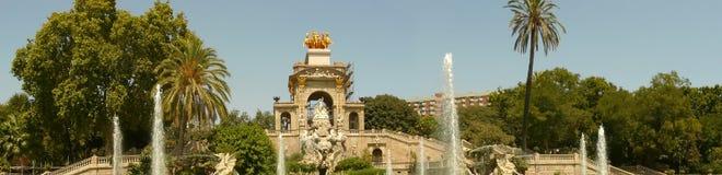 Parc de la ciutadella cascade fountain. Barcelona spain Royalty Free Stock Photo