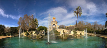 Parc de la Ciutadella fountain Stock Photo
