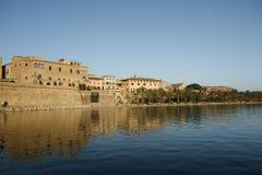 Parc de la Mar, Palma de Mallorca, Mallorca, Spain. Par de la Mar, Medieval city Walls Palma de Mallorca, Mallorca, Spain Stock Photography