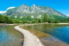 Parc de la Prehistoire in Midi-Pyrenees, France. Parc de la Prehistoire in Tarascon-sur-Ariege, Ariege, Midi-Pyrenees, southern France Stock Photo