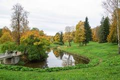 Parc de la Russie St Petersburg Pavlovskiy photographie stock libre de droits