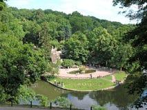 Parc de lanscape de Sofievka dans Uman photographie stock