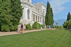Parc de Livadia. Aménagement. Yalta. La Crimée. L'Ukraine. Photos stock