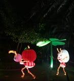 Parc de lueur de Dubaï - fourmis rougeoyantes ! ! Images libres de droits