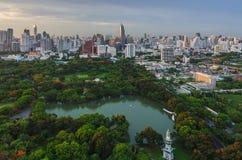 Parc de Lumpini à Bangkok Photo stock