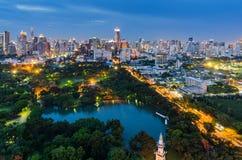 Parc de Lumpini à Bangkok Photographie stock libre de droits
