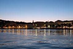 Parc de Marjan dans la fente, Croatie à la soirée images stock