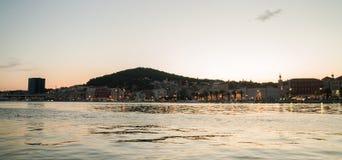Parc de Marjan dans la fente, Croatie à la soirée photo stock
