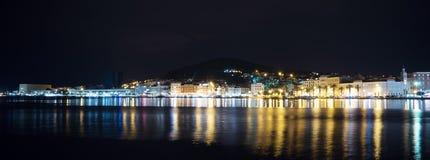 Parc de Marjan dans la fente, Croatie la nuit image libre de droits