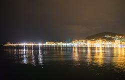 Parc de Marjan dans la fente, Croatie la nuit photographie stock
