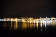 Parc de Marjan dans la fente, Croatie la nuit photo libre de droits