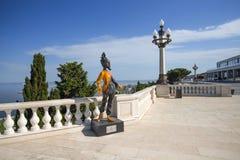 Parc de montagne, symbole des premiers jeux européens - gazelle Photo stock