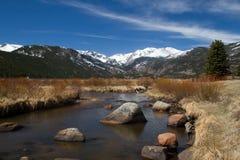 Parc de moraine et grand Thompson River Images libres de droits