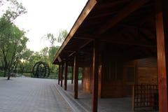 Parc de Pékin Haidian au crépuscule Images libres de droits