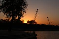 Parc de Pékin Haidian au crépuscule Photos libres de droits