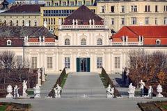 Parc de palais de belvédère, Vienne image libre de droits