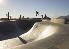 Parc de patin dans l'action Photo libre de droits