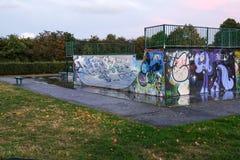 Parc de patin, soirée d'automne Photographie stock