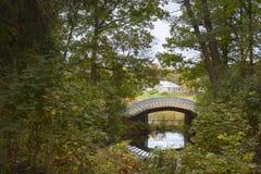Parc de paysage d'Autumn Monrepos Photographie stock libre de droits