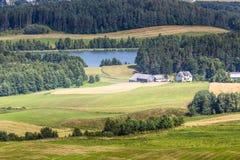 Parc de paysage de Suwalki en Pologne Photo stock