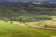 Parc de paysage de Suwalki, Pologne Image libre de droits