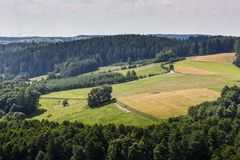 Parc de paysage de Suwalki, Pologne Photo stock